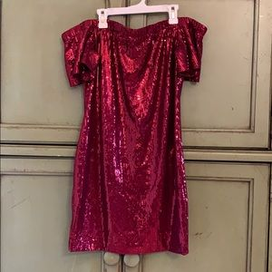 Sequin Off Shoulder Dress